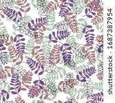 vector illustration flower... | Shutterstock .eps vector #1687387954