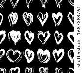 Seamless Pattern Black White...
