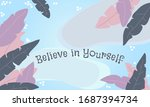 vector quote motivational... | Shutterstock .eps vector #1687394734