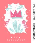 doodle crown abstract picture... | Shutterstock .eps vector #1687394761