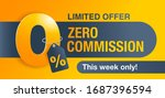 0  zero commission special... | Shutterstock .eps vector #1687396594