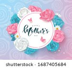 creative mother's day cards... | Shutterstock .eps vector #1687405684