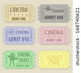 set of cinema tickets in... | Shutterstock .eps vector #168740621