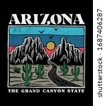 Arizona print design for t-shirt prints, posters and other uses.