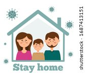 the family remains in... | Shutterstock .eps vector #1687413151