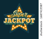 super jackpot casino green star ... | Shutterstock .eps vector #1687415587