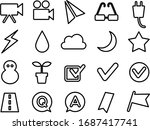 icon set of video camera ... | Shutterstock .eps vector #1687417741
