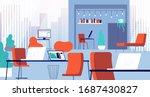 coworking interior. open office ... | Shutterstock .eps vector #1687430827