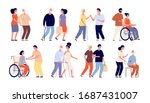 social workers. help group... | Shutterstock .eps vector #1687431007