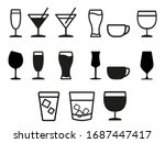 set of drinks icons  water ... | Shutterstock .eps vector #1687447417