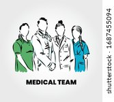 group of doctors and medical... | Shutterstock .eps vector #1687455094