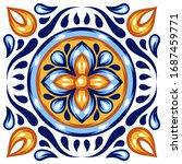 italian ceramic tile pattern....   Shutterstock .eps vector #1687459771