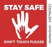 warning label coronavirus with... | Shutterstock .eps vector #1687463221