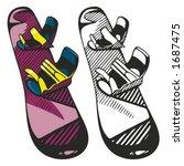 snowboard vector illustration. | Shutterstock .eps vector #1687475
