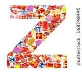 z letter   alphabet made of... | Shutterstock . vector #168748445