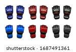 mma gloves in vector.gloves for ... | Shutterstock .eps vector #1687491361