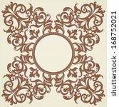 vector baroque ornament in...   Shutterstock .eps vector #168752021