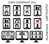 video conference call vector... | Shutterstock .eps vector #1687523707