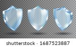 transparent glass shields.... | Shutterstock .eps vector #1687523887