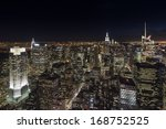 New York City Skyline View At...