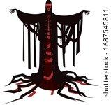 dark red masque evil priest | Shutterstock .eps vector #1687545811