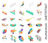 flat 3d isometric infographic... | Shutterstock .eps vector #1687557667