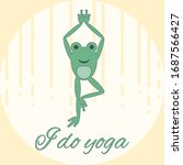 Funny Frog Doing Yoga. Written...