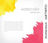 background with watercolor... | Shutterstock .eps vector #168758951