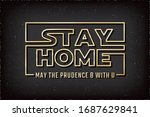 stay home warning concept based ... | Shutterstock .eps vector #1687629841