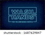 wash hands warning concept... | Shutterstock .eps vector #1687629847