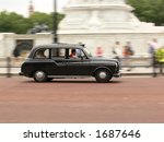 London Black Taxi In Motion