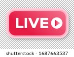 live streaming icon 3d modern...