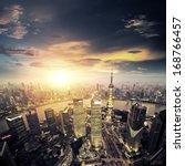 shanghai lujiazui finance and... | Shutterstock . vector #168766457