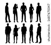set of vector silhouettes of ... | Shutterstock .eps vector #1687670347