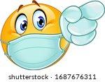emoji emoticon with medical... | Shutterstock .eps vector #1687676311