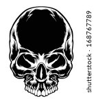 dark skull vector element   Shutterstock .eps vector #168767789