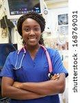 Portrait Of Female Nurse In...