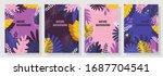 vector set nature background ... | Shutterstock .eps vector #1687704541