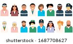 doctors of different ages and... | Shutterstock .eps vector #1687708627