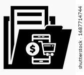 folder and e commerce icon.... | Shutterstock .eps vector #1687714744