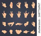 hand position set. female or... | Shutterstock . vector #1687716967