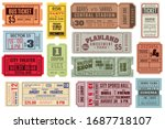 retro tickets. vintage cinema... | Shutterstock . vector #1687718107