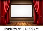 background with red velvet... | Shutterstock .eps vector #168771929