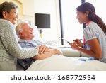 female doctor talking to senior ...   Shutterstock . vector #168772934