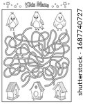 children maze. coloring page....   Shutterstock .eps vector #1687740727