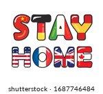 stay home slogan. quarantine...   Shutterstock .eps vector #1687746484