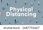 social distancing or physical... | Shutterstock .eps vector #1687752667