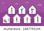vector banner with homes with...   Shutterstock .eps vector #1687753144