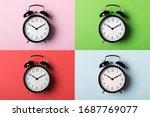Black Vintage Alarm Clock On...