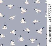 Seagulls Vector Seamless...